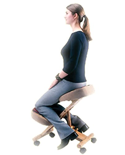 Healthy Back Natural Fit Wooden Kneeling Chair W/ Memory