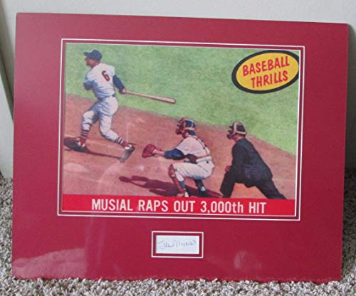 Stan Musial Signed Photo - Vintage Stan Musial Autographed Signed Photo With Cut Signature Auto Matted & Shrink Wrapped Memorabilia JSA