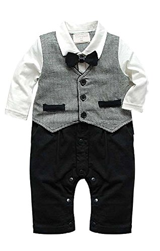 FOUNDO Baby Boy Kids Toddler Newborn Gentleman One-piece Romper Jumpsuit Outfit by FOUNDO