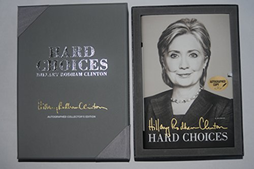SIGNED Hillary Rodham Clinton Hard Choices Book Autographed + COA + Leather collectors box