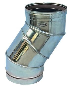 Codo para tubos estufa de acero inoxidable Piemme Speedy Art.05Diámetro 180mm: Amazon.es: Bricolaje y herramientas