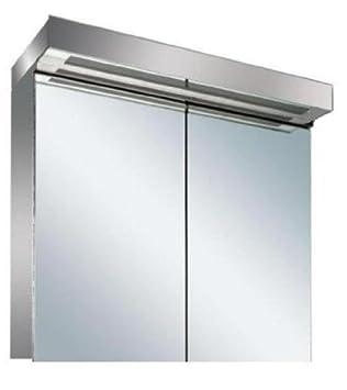 New Led Illuminated Bathroom Mirror Cabinet With On Off Sensor Shaver Socket