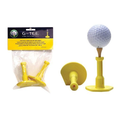 G-Tee Precision Height Rubber Golf Tees (2 Tees)