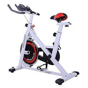 41%2BKZCPu3sL. SS300 homcom Cyclette Professionale per Allenamento Fitness da Casa Altezza Regolabile Max 120kg Acciaio 107 × 48 × 100cm