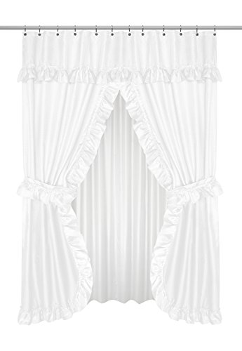 Carnation Home Fashions FSCD-L/21 Lauren Double Swag Shower Curtain ()