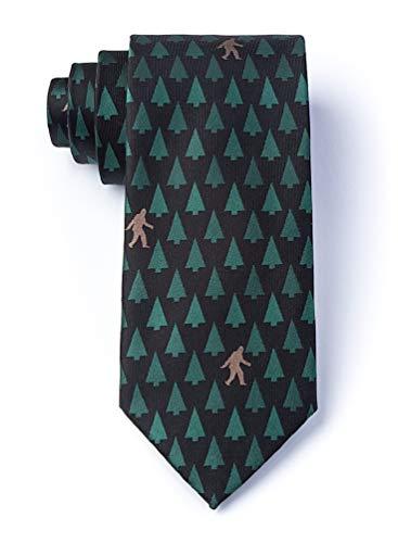Sasquatch Spotted Black Microfiber Tie]()