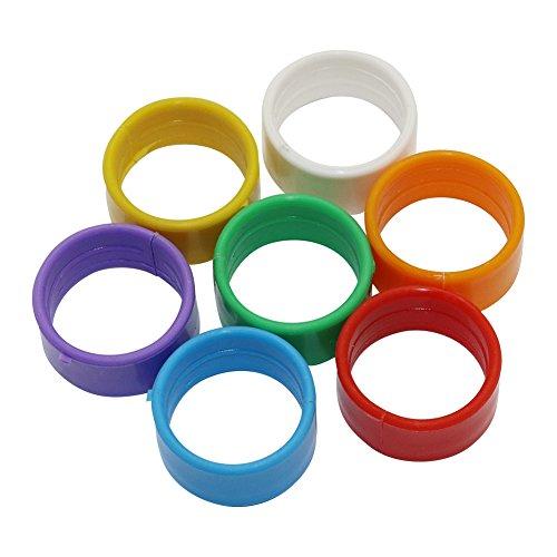 ADHERETOFLY 18 mm Quail Leg Bands Birds Pigeon Chicken Leg Rings Plastic 10 Colors (Mix Colors) (Plastic Chicken Rings)
