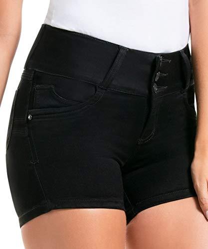 CYSM - Women's Push Up Jeans Colombian Butt Lift, Stretch | Levanta Cola | Tanya Shorts, Size 12