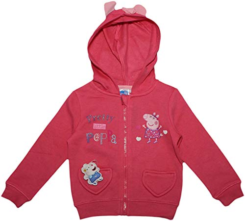 Peppa Pig Pretty Kids Jumper with Ears and Bow Hood Pink 8 Years