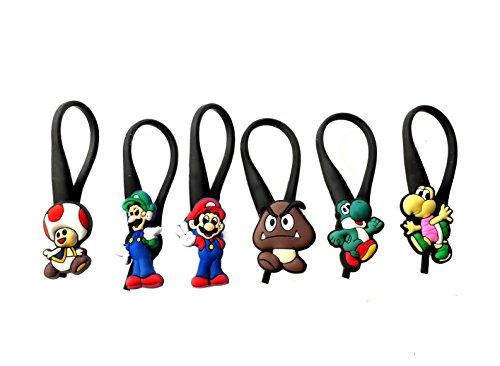 Daisy Mario Bros Costumes (AVIRGO 6 pcs Zipper Pull / Zip pull Charms Set # 67 - 3)