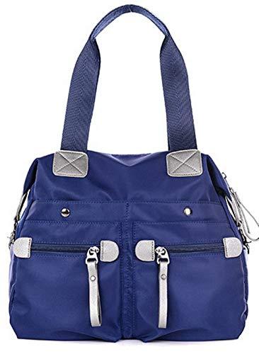 azzurro style fbuibc181498 Azzurro Tracolla Lavoro Borse Satchel Donna Nylon A Tracolla Allhqfashion EAzvqfc