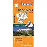 Carte Rhône Alpes Michelin 2017