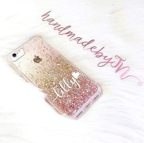 Amazon Com Handmadebytn Personalized Rose Gold Glitter Iphone Xs