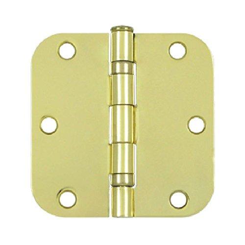(Deltana S35R5BB3 Ball Bearing Steel 3 1/2-Inch x 3 1/2-Inch x 5/8-Inch Radius Hinge)