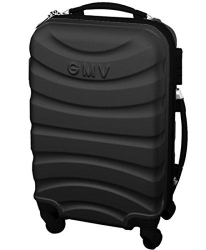 Hard Shell ABS 4 wheel Spinner Lightweight Hand Luggage Cabin Travel Trolley (DARK GREY)