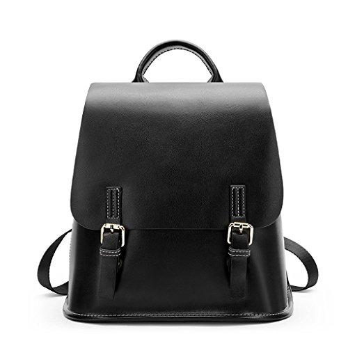 Bag Lady Leather Backpack Retro color Jiute A Shoulder q4zpwH