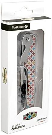 Vin Bouquet FIV 135 - Sacacorchos 2 tiempos Vintage, Sacacorchos Camarero, Descochador, Abrebotellas de 2 tiempos