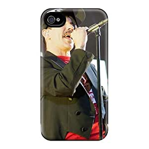 Scratch Resistant Hard Phone Case For Iphone 4/4s With Custom Vivid Red Hot Chili Peppers Skin KellyLast