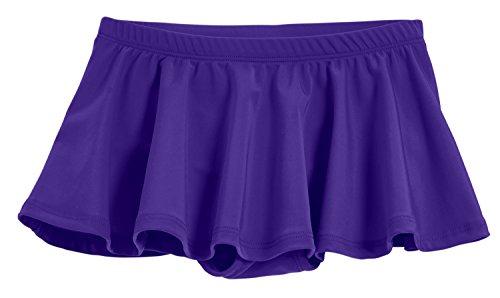 - City Threads Little Girls' Swimming Suit Bottom Bikini Skort Swim Skirt Coverup Wrap Sun Protection for Modesty Yet Fashionable Purple, 4T