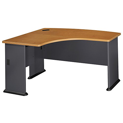 Bush Business Furniture Series A Collection 60W x 44D Left Hand L-Bow Desk in Natural ()