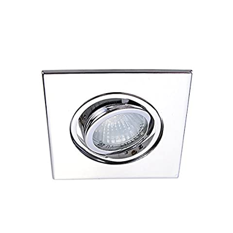 Eco Lighting NY HLV3006CH 3-Inch for both Line/Low Voltage Trim Recessed Light, Adjustable Square Gimbal Ring, All - Low Voltage Trims