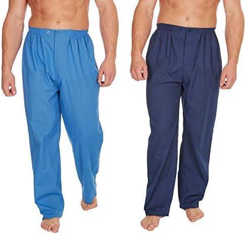 Insignia Pack 2 Hombre Tradicional Pijama Pantalones - Cielo & Azul Marino, M: Amazon.es: Ropa y accesorios