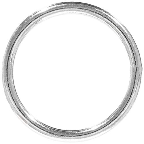 (Craft County Welded Steel O-Rings - Great for DIY Projects, Decoration & Art - Multiple Diameters - Variety of Pack Sizes)