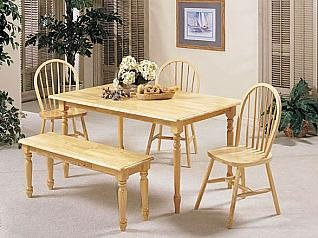 ACME Farmhouse Table, Natural Finish For Sale