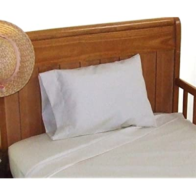 "12x18 Pillowcase 100% cotton Perfect for ""MyPillow Go Anywhere Pillow"" Travel size, Toddler size Pillowcase 12x18 Color: White"