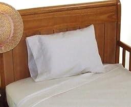 Travel size, Toddler size Pillowcase 12x18 Color: White