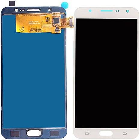 Blanco sin Marco iXuan para Samsung Galaxy J7 2016 J710 J710F J710M J710H J710FN Pantalla T/áctil LCD