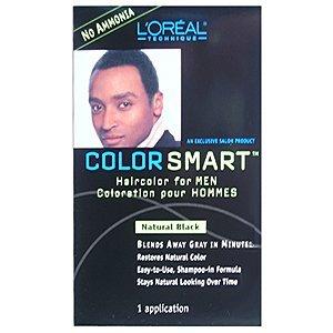 LOREAL Color Smart Couleur de cheveux pour les hommes Natural Black (une application)