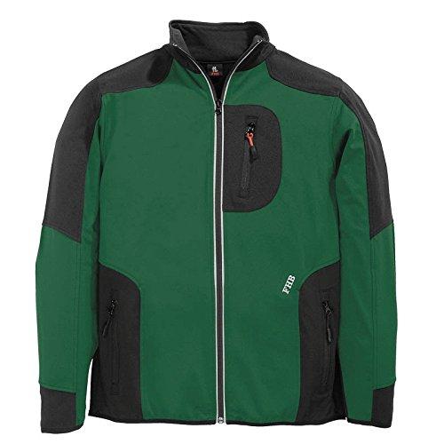 FHB Jersey-Fleece, Ralf, Größe L, grün / schwarz, 78461-2520-L