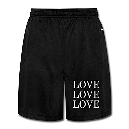 Men's LOVE LOVE LOVE BABY Logo Performance Joggers Shorts Sweatpants