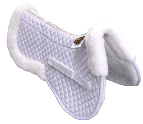 ECP Eurotech Wool Deluxe Half Saddle Pad White