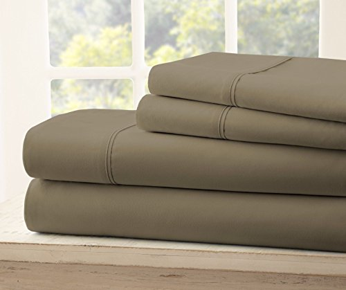 Price comparison product image Queen Size Royal Collection 1900 Thread Count Bamboo Quality Bed Sheet Set With 1 Fitted, 1 Flat and 2 Standard Pillow Case.Wrinkle Free Shrinkage Free Fabric, Deep Pockets (Mocha/ Light Brown)