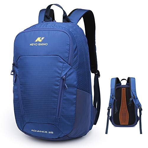 N NEVO RHINO Travel Bookbag Hiking Backpack, 25L Nylon Lightweight Breathable Water Resistant Laptop Backpack, Multipurpose Casual Computer Backpack,College Student Recreation Outdoor Sports Daypacks