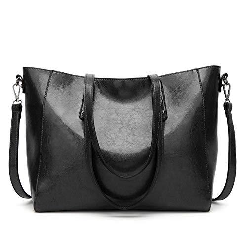 Totalizador Mujer Casual Gran Cuer Shoulder Hombro Capacidad Bags De Negro Bolsos Audburn qxnctO6Ov
