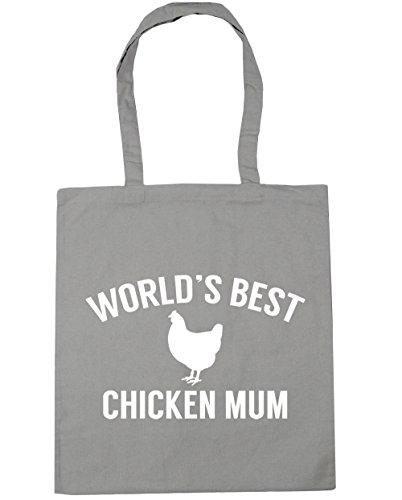 42cm x38cm Bag mum Gym best Light 10 World's Shopping Grey Tote chicken litres Beach HippoWarehouse wzZqvn