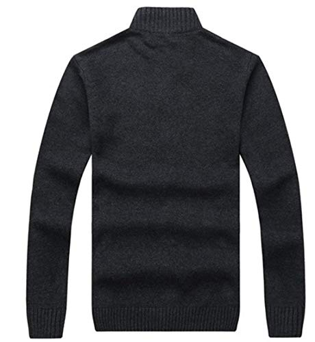 Men's Coat Outerwear Coat Fashion Stand Collar Cotton with Full Jacket Sleeve Zipper Coat Outwear Huixin Long Gray Apparel Sqd4zS