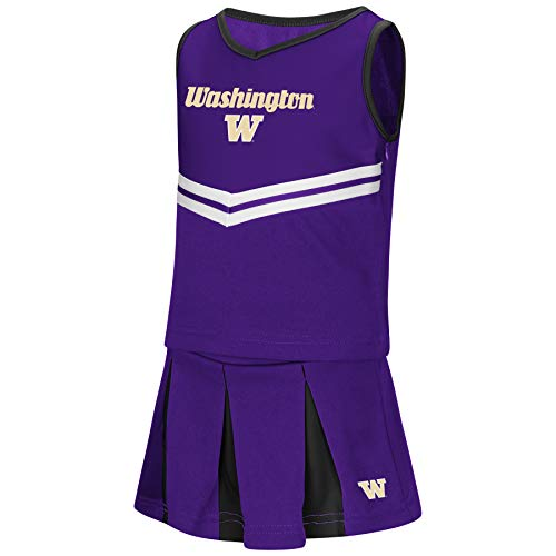 Colosseum NCAA Toddler-Girls Team Cheer Set-Washington ()