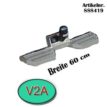 Trittbretter für Anhängerkupplung AHK Auftritt 888419 Breite 60cm Edelstahl