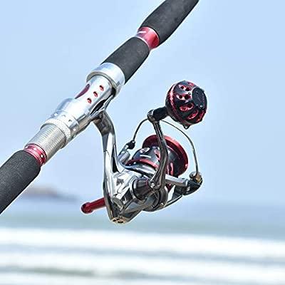 Gomexus Carrete de Pesca Perilla para Shimano Stradic CI4 Utegra Twin Power Daiwa Ballistic EX LT Luvias Pomo Directo,Daiwa BG Ninja Instalación de ...