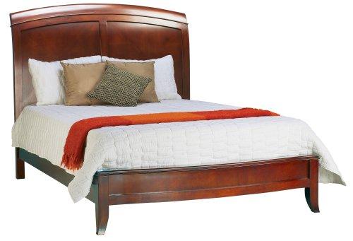 Modus Furniture Brighton Low Profile Sleigh Bed, Cinnamon, Queen