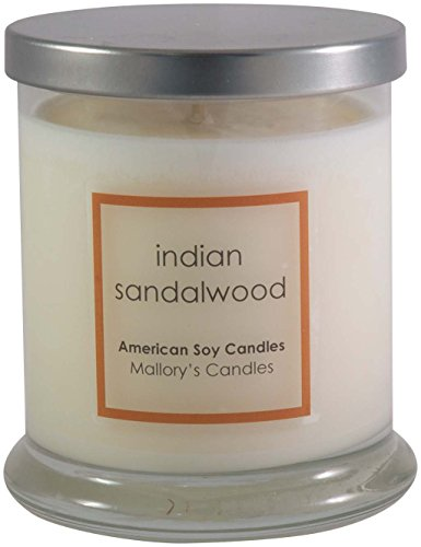 Indian Sandalwood Natural Soy Handmade - Round Sandalwood Candle
