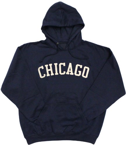 Gildan Chicago Felt Applique Hoodie (Large)