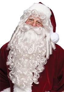 Santa Wig And Beard Super Dlx