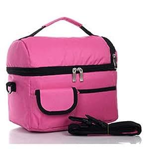 Impermeable bolsa térmica aislamiento bolsas de bolsa térmica bolsa de picnic aislamiento paquete de hielo lonchera con correa ajustable para el hombro y cremallera