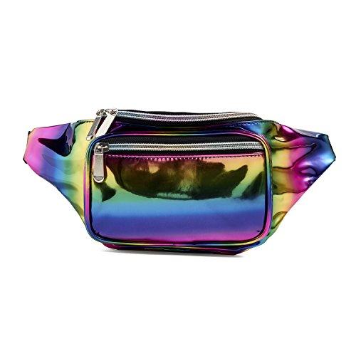 C.T.Soarsky Fanny Pack Laser Waist Bags Sport Running Bum Ba