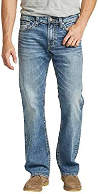 Men/'s Zac Relaxed Fit Straight Le Choose SZ//color Silver Jeans Co
